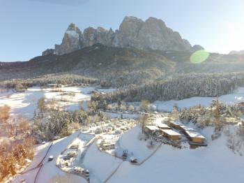 Campen im UNESCO-Welterbe Dolomiten kannst du z.B. an der Seiser Alm.