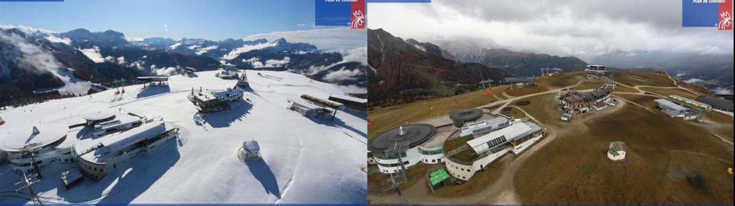 Innerhalb von 24 Stunden hat sich der Kronplatz in eine Winterlandschaft verwandelt.