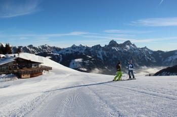 Genuss-Skifahrer sind am Neunerköpfle bestens aufgehoben.