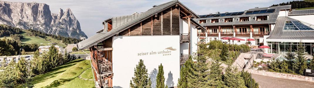 Das Seier Alm Urthaler besticht durch seine herrliche Lage inmitten der Dolomiten.