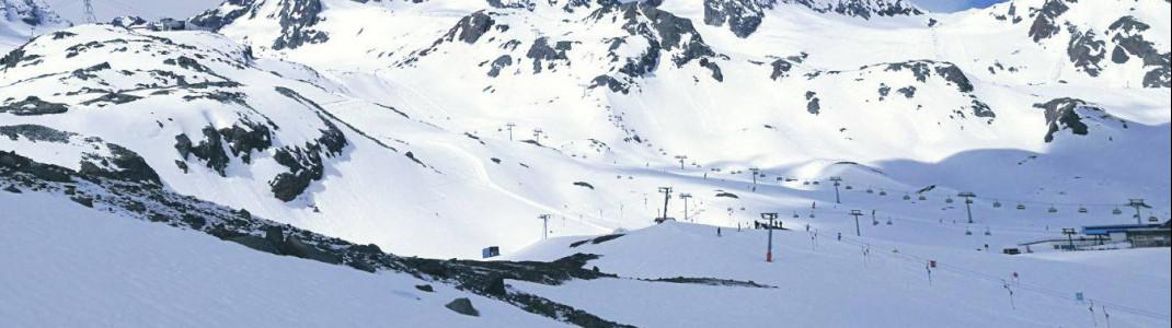 Bis Sonntag ist es noch sonnig am Stubaier Gletscher. Ab Montag wird's heftig schneien.