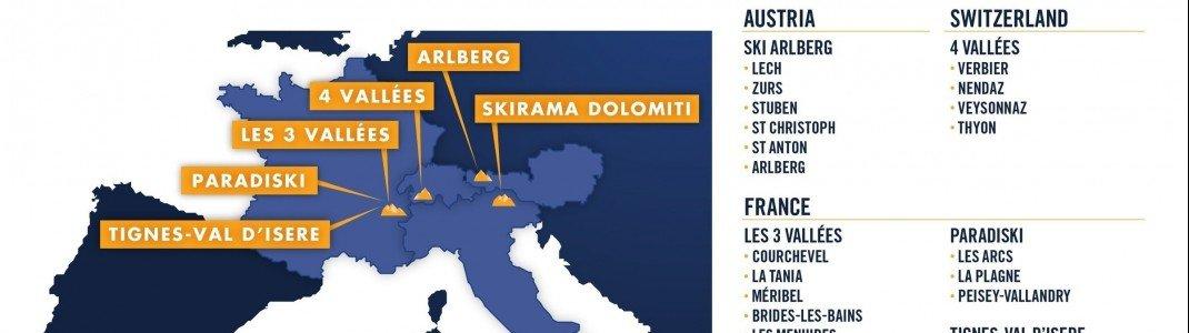 Diese europäischen Skigebiete sind beim Epic Pass dabei.