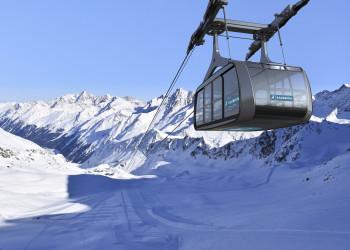 Die neue Falginjochbahn ist die windsicherste Seilbahn der Welt.