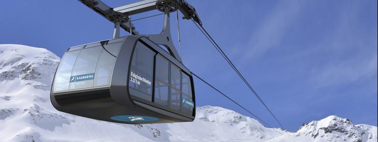 Die Falginjochbahn ist die erste Seilbahn ihrer Art in Österreich.