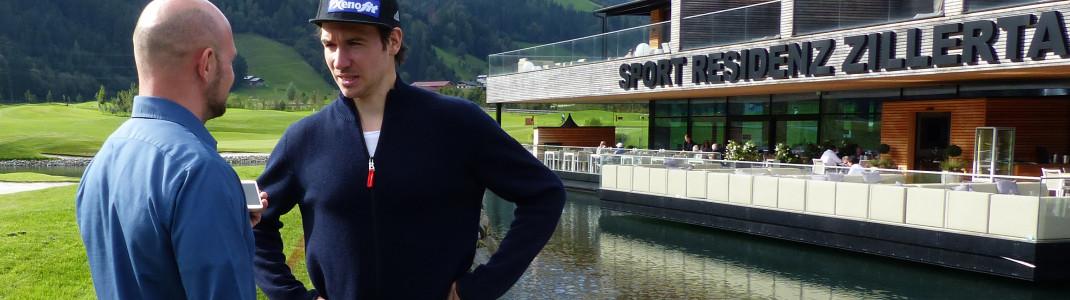 Patrick Potstada von Skigebiete-Test.de im Gespräch mit Felix Neureuther.