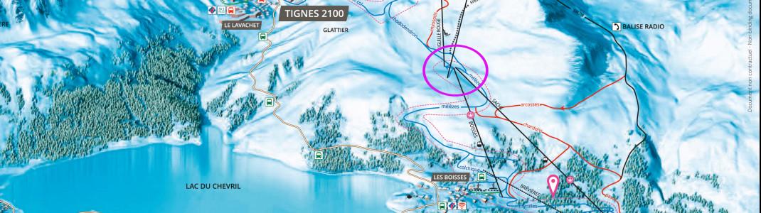 Die Bergstation der Gondel La Sache fing am Mittwoch Feuer (Lage siehe Kreis).