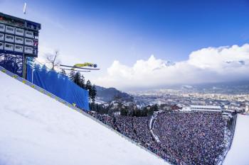 Die Bergisel-Schanze in Innsbruck ist Schauplatz der Nordischen Ski WM 2019