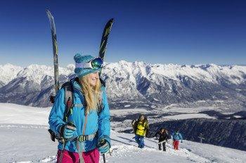 300 Hektar Freeride-Gelände erwarten Powderfans im Wintersportgebiet Axamer Lizum.