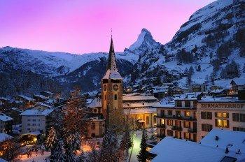 Romantische Alpenidylle im autofreien Zermatt