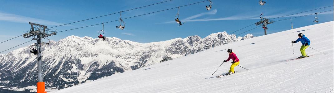 Neun Talorte, moderne Liftanlagen und jede Menge Sonnenterrassen zeichnen die SkiWelt Wilder Kaiser - Brixental aus.