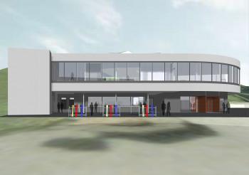 So wird die zweistöckige neue Talstation in St. Margarethen aussehen.