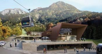 Eine Vision wird wahr: So sieht die Talstation der Jennerbahn ab dem Sommer aus.