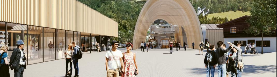 Die neue Talstation wird das Tor zum Nebelhorn.
