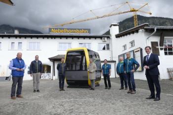 Die neuen Kabinen bieten Platz für 10 Personen.