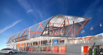 Futuristisches Design und verbessere Infrastruktur an der Talstation