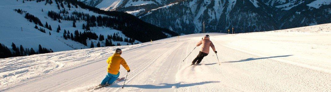 Traumhafte Pisten erwarten Skifahrer am Diedamskopf.