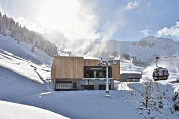 Mit der neuen Gondelbahn kommen die Gäste von Mellau ins Skigebiet.