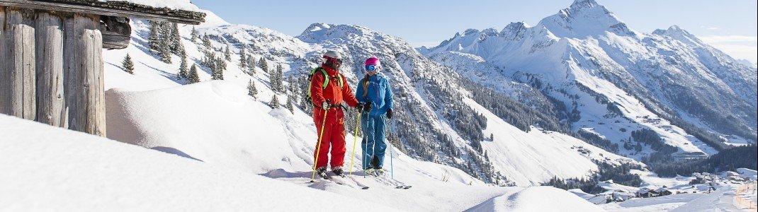 Warth-Schröcken zählt durch seine Lage zu den schneereichsten Skigebieten Europas. Hier fühlen Pistenfahrer, aber auch Skitourengeher und Freerider wohl.