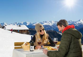 Das Ski & Weinkulinarium verbindet Sport und Genuss.