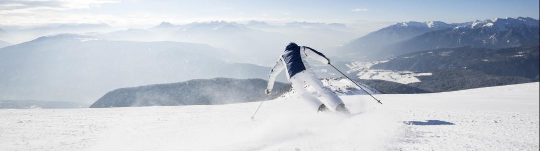 Sonnenverwöhnte Südhänge prägen das Skigebiet Gitschberg-Jochtal.