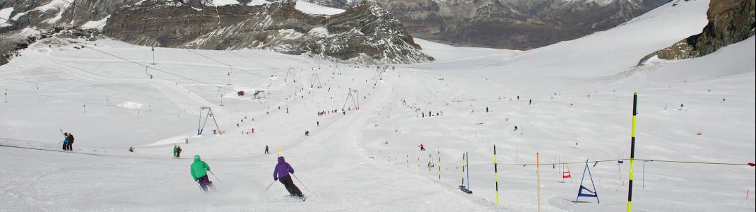 21 Pistenkilometer sind in Zermatt im Sommer geöffnet.