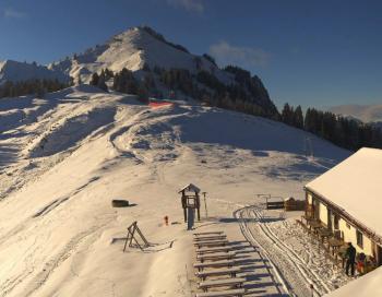 Der Grünten zählt zu den größten Skigebieten im Allgäu.