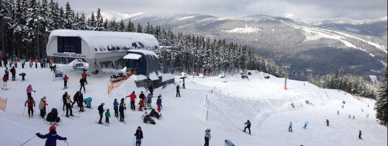 Eines der populärsten und modernsten Skigebiete in Tschechien: Spindlermühle.