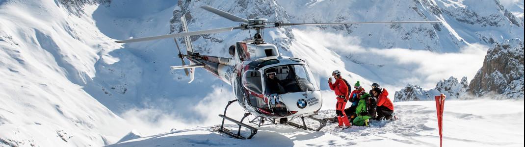 Zum Heliskiing ist ein Ski- oder Bergführer nötig.