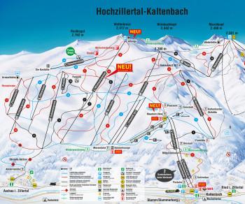 Die neue Gondelbahn liegt mitten im Skigebiet.