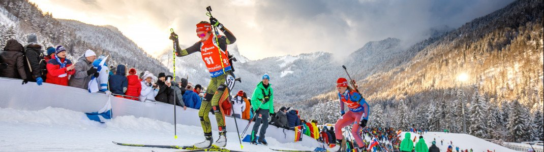 In January 2018, Ruhpolding will again host disciplines of this season's World Cup 2017/2018, being one of the most popular World Cup venues.