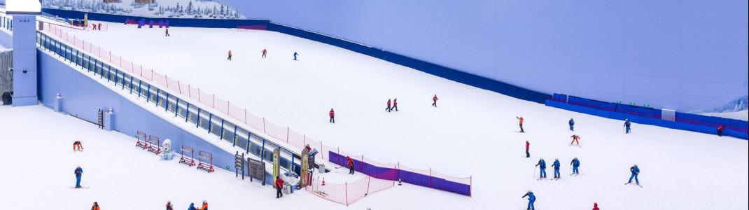 In der zweitgrößten Skihalle der Welt, dem Sunac Snow Park in Guangzhou, laufen die Liste seit einigen Tagen wieder.