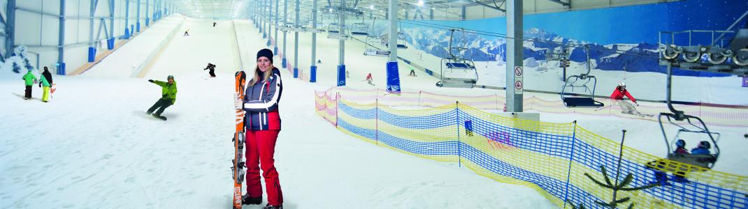 Alpenpanorama und Sessellift - so lernt man Skifahren in Hamburg