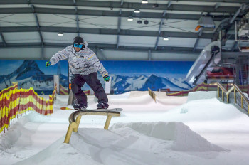 The terrain park is Bispingen's hotspot for snowboarders and freestylers