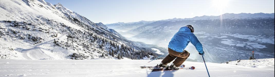 In der Olympia SkiWorld Innsbruck stehen dir insgesamt 260 Pistenkilometer zur Verfügung.