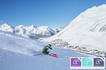 Erlebe die Pisten in Österreichs höchstgelegenem Weltcup-Ort Kühtai.