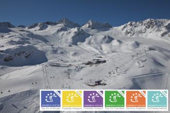 Der Stubaier Gletscher bietet fast 100 Pistenkilometer.