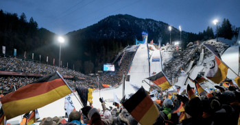The prelude: ski jumping in Oberstdorf.