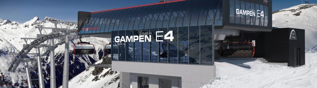 So wird die neue Bergstation der Sesselbahn Gampen E4 aussehen.