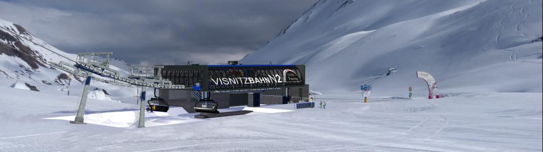 Visualisierung der neuen Talstation Visnitzbahn N2