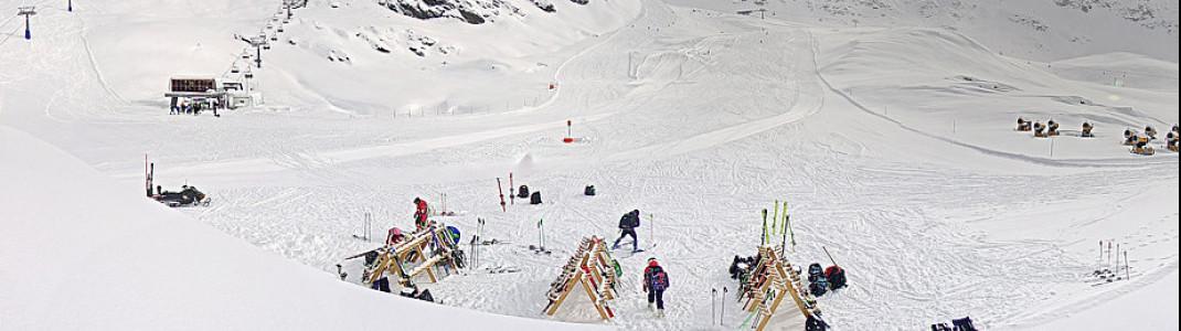 In Sulden in Südtirol läuft der Skibetrieb weiter.