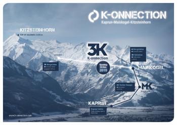Mit der Eröffnung am 30. November 2019 ist die K-onnection komplett. Die 3K-Bahn zwischen Maiskogel Bergstation und Langwied ist 4,3 Kilometer lang.