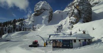 In Cortina d'Ampezzo laufen bereits die Vorbereitungen für die Ski-WM ab 8. Februar.