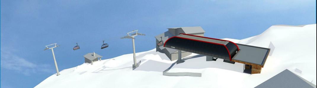 Skizze der neuen Bergstation 6SB Brunelle