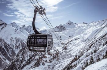 Die 3K K-onnection verbindet den Maiskogel mit dem Gletscherskigebiet am Kitzsteinhorn.