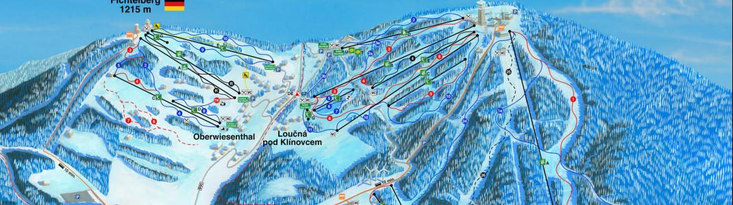 Klínovec ist jetzt das größte Skizentrum Tschechiens.