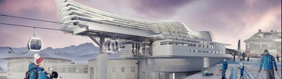 So soll die Bergstation der neuen Kabinenbahn Olang 1+2 aussehen.