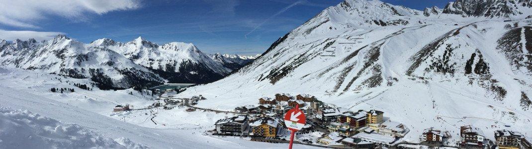 Der Skiort Kühtai liegt auf einer 2.020m hohen Passhöhe.