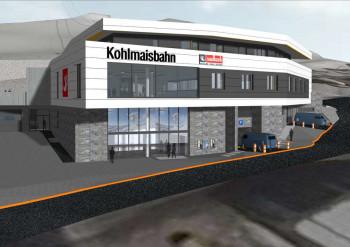 100 Tiefgaragenparkplätze und Mitarbeiterwohnungen werden in der Talstation der Kohlmaisbahn untergebracht.