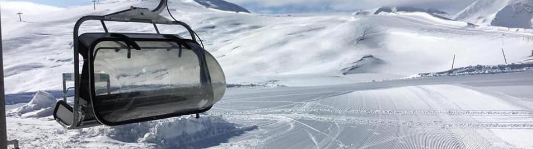 Da lacht das Skifahrerherz: Die erste Piste in Livigno ist schon präpariert.
