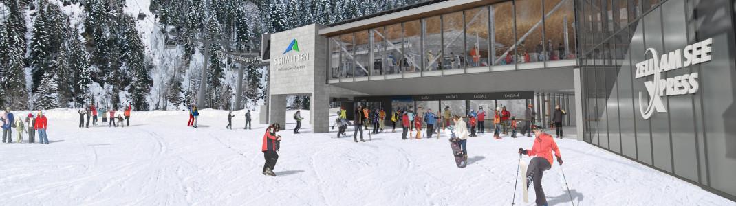 So wird die neue Talstation in Viehhofen aussehen.